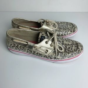 Sperry Top Sider Leopard and Sequin Boat Shoe